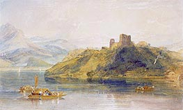 Chateau de Rinkenberg on the Lac de Brienz, Switzerland, 1809 by J. M. W. Turner | Painting Reproduction