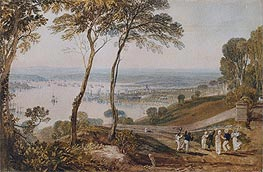 Plymouth Dock from near Mount Edgecumbe, undated by J. M. W. Turner | Painting Reproduction