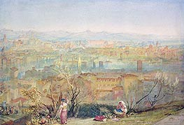 Rome from San Pietro, undated by J. M. W. Turner | Painting Reproduction