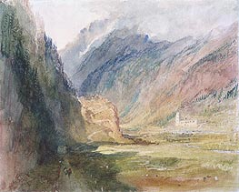 Bonhomme Convent, Chamonix   J. M. W. Turner   Painting Reproduction