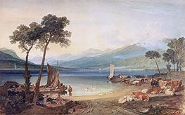 Lake Geneva and Mont Blanc, c.1802/05 by J. M. W. Turner | Painting Reproduction