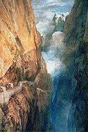 Passage of Mount St. Gotthard from the Devil's Bridge   J. M. W. Turner   veraltet