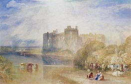 Carew Castle, Pembroke, c.1832 by J. M. W. Turner | Painting Reproduction
