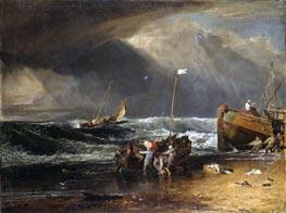 A Coast Scene with Fishermen Hauling a Boat Ashore (The Iveagh Seapiece) | J. M. W. Turner | veraltet
