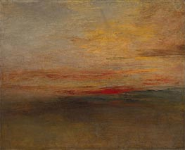 Sunset, c.1830/35 by J. M. W. Turner | Painting Reproduction