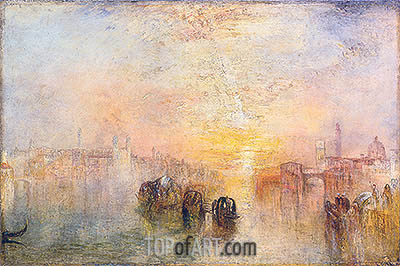 Going to the Ball (San Martino), 1846 | J. M. W. Turner| Painting Reproduction
