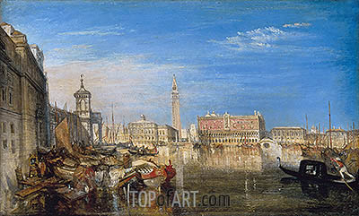 Bridge of Sighs, Ducal Palace and Custom House, Venice, 1833 | J. M. W. Turner | Gemälde Reproduktion