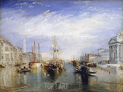 Venice, from the Porch of Madonna della Salute, c.1835 | J. M. W. Turner | Painting Reproduction