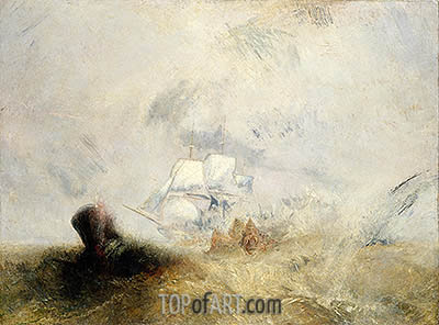 The Whale Ship, c.1845 | J. M. W. Turner| Gemälde Reproduktion