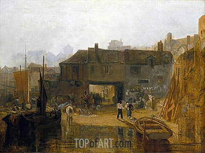 Saltash with the Water Ferry, 1811 | J. M. W. Turner| Painting Reproduction