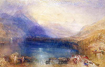 The Lake of Zug, 1843 | J. M. W. Turner | Gemälde Reproduktion