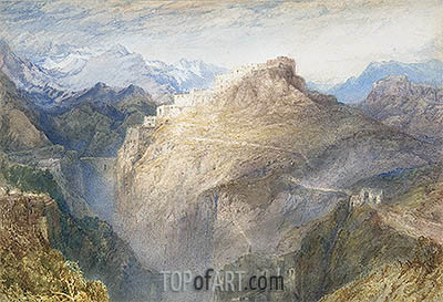 Fort of L'Essillon, Val de la Maurienne, France, 1836 | J. M. W. Turner| Painting Reproduction