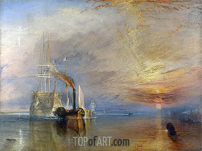 The Fighting Temeraire, 1839 | J. M. W. Turner| Painting Reproduction