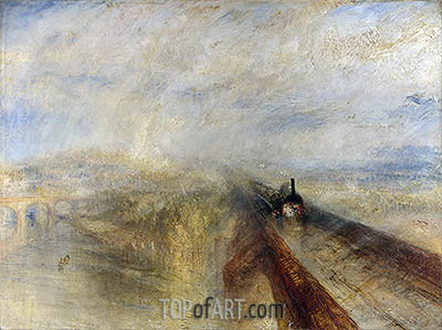 Rain, Steam and Speed - The Great Western Railway, 1844 | J. M. W. Turner| Gemälde Reproduktion
