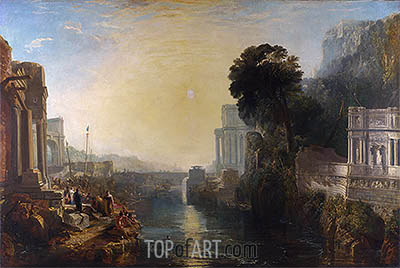 Dido Building Carthage (The Rise of the Carthaginian Empire), 1815 | J. M. W. Turner | Gemälde Reproduktion