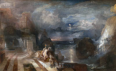 The Parting of Hero and Leander, b.1837 | J. M. W. Turner| Painting Reproduction