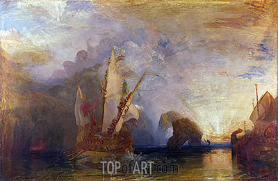 Ulysses Deriding Polyphemus - Homer's Odyssey, 1829 | J. M. W. Turner | Painting Reproduction