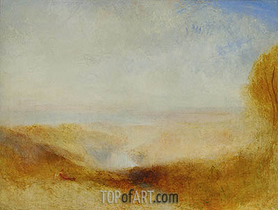 Landscape with River and a Bay in the far Background, c.1835 | J. M. W. Turner| Painting Reproduction
