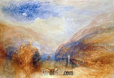 The Lauerzer See with the Mythens (Lake of Brienz), c.1845/50 | J. M. W. Turner| Gemälde Reproduktion