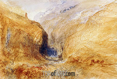 Mountainous Landscape (A Swiss Pass), c.1848/50 | J. M. W. Turner | Painting Reproduction