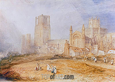 Ely Cathedral, undated | J. M. W. Turner | Painting Reproduction