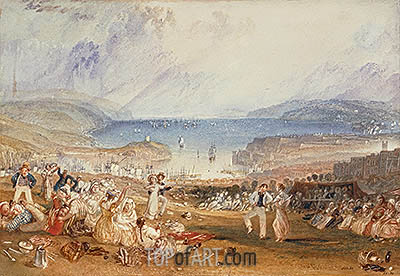 Plymouth, Devonshire, c.1830 | J. M. W. Turner | Painting Reproduction