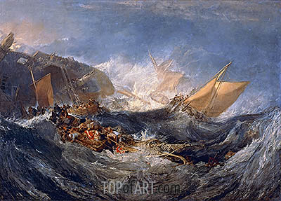 The Wreck of a Transport Ship, c.1810 | J. M. W. Turner | Painting Reproduction