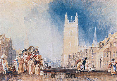 Stamford, Lincolnshire, c.1828 | J. M. W. Turner| Painting Reproduction