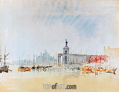 Venice: The Punta della Dogana with the Zitelle in the Distance, 1819 | J. M. W. Turner| Gemälde Reproduktion