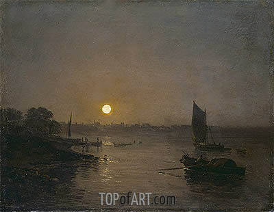 Moonlight (Study at Millbank), 1797 | J. M. W. Turner | Gemälde Reproduktion
