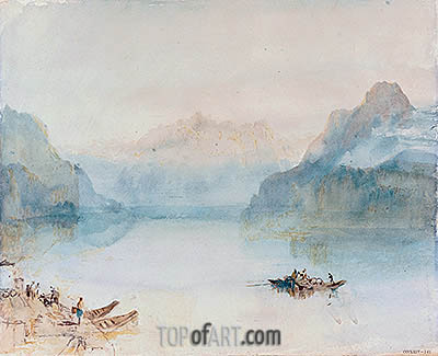 Lake Lucerne: The Bay of Uri from Brunnen, c.1841/42 | J. M. W. Turner | Painting Reproduction