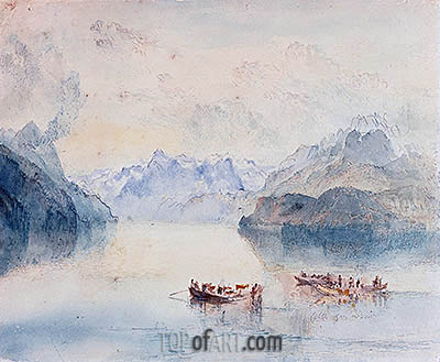 The Bay of Uri on Lake Lucerne from Brunnen, c.1841/42 | J. M. W. Turner| Painting Reproduction