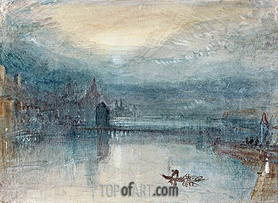 Lucerne by Moonlight, c.1842/43 | J. M. W. Turner| Painting Reproduction