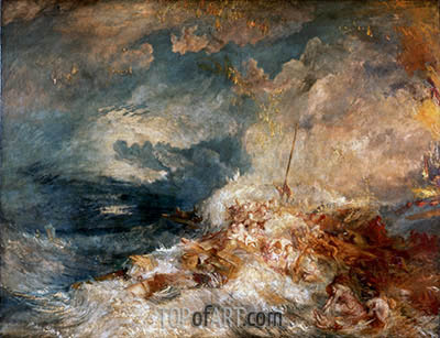 A Disaster at Sea, c.1835 | J. M. W. Turner| Painting Reproduction