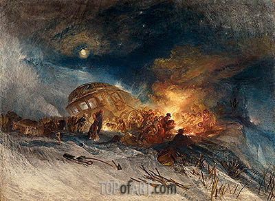 J. M. W. Turner | Messieurs les Voyageurs on their Return from Italy in a Snow Drift upon Mount Tarrar, 1829