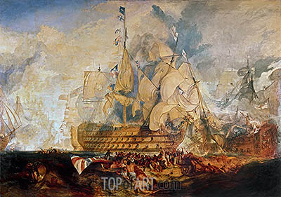 Battle of Trafalgar, 21 October 1805, c.1823/24 | J. M. W. Turner | Gemälde Reproduktion