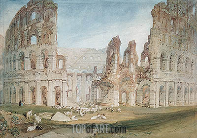 Colosseum in Rome, undated | J. M. W. Turner| Painting Reproduction