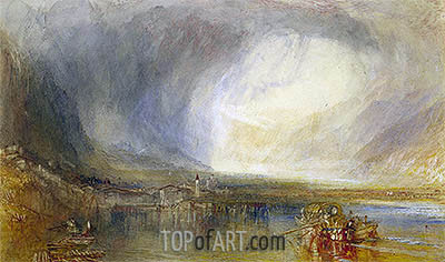 Fluelen from the Lake of Lucerne, 1845 | J. M. W. Turner| Painting Reproduction