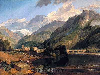 Bonneville, Savoy, with Mont Blanc, 1803 | J. M. W. Turner | Painting Reproduction