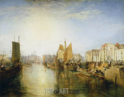 The Harbor of Dieppe, 1826 | J. M. W. Turner| Painting Reproduction