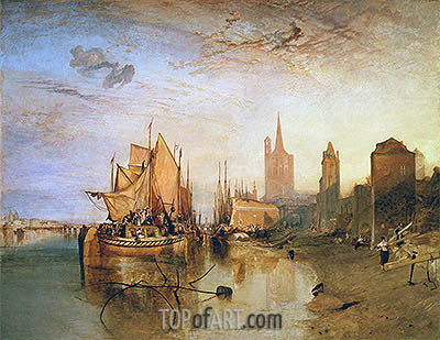 Cologne: The Arrival of a Packet-Boat: Evening, 1826 | J. M. W. Turner | Gemälde Reproduktion