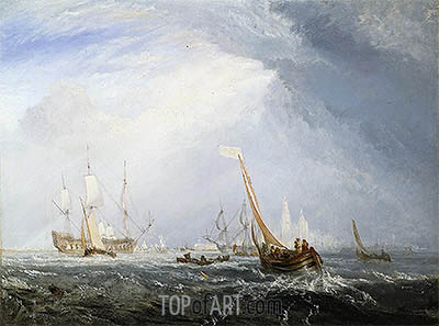 Antwerp: Van Goyen Looking Out for a Subject, 1833 | J. M. W. Turner | Painting Reproduction