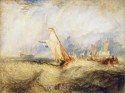 Van Tromp, Going About to Please His Masters, 1844 | J. M. W. Turner| Painting Reproduction