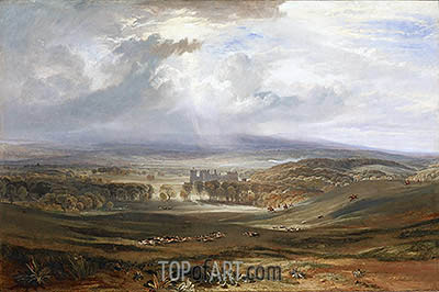 Raby Castle, the Seat of the Earl of Darlington, 1817 | J. M. W. Turner | Painting Reproduction
