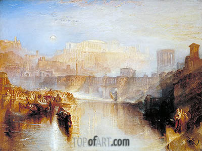 Ancient Rome: Agrippina Landing with the Ashes of Germanicus, 1839 | J. M. W. Turner| Gemälde Reproduktion
