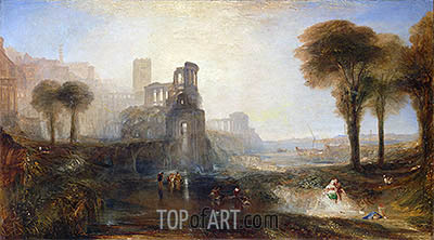 Caligula's Palace and Bridge, 1831 | J. M. W. Turner | Painting Reproduction