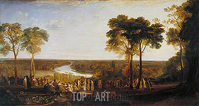 England: Richmond Hill on the Prince Regent's Birthday, 1819 | J. M. W. Turner| Painting Reproduction