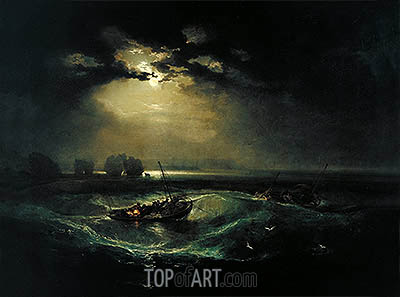 Fishermen at Sea, 1796 | J. M. W. Turner| Painting Reproduction