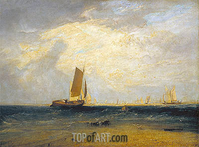 Fishing upon the Blythe-Sand, Tide Setting In, 1809 | J. M. W. Turner| Painting Reproduction