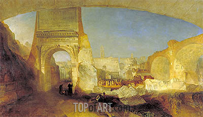 Forum Romanum, for Mr Soane's Museum, 1826 | J. M. W. Turner| Painting Reproduction